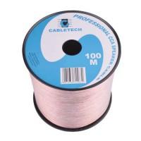 Cablu difuzor Cabletech, 0.5 mm, rola 100 m, transparent