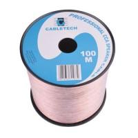 Cablu difuzor Cabletech, 0.75 mm, rola 100 m, transparent
