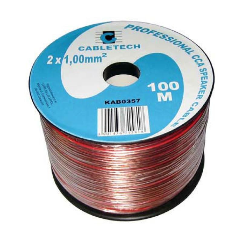 Cablu din CCA pentru difuzor, 2 x 1 mm, 100 m, Transparent 2021 shopu.ro