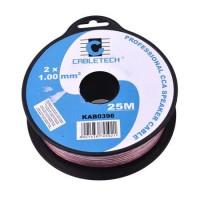 Cablu difuzor Cabletech, CCA, 1 mm, rola 25 m, transparent