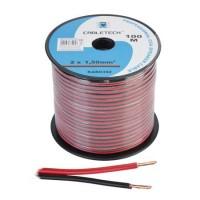 Cablu difuzor Cabletech, CCA, 1.5 mm, rola 100 m, negru/rosu