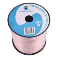 Cablu difuzor Cabletech, 1.5 mm, rola 100 m, transparent