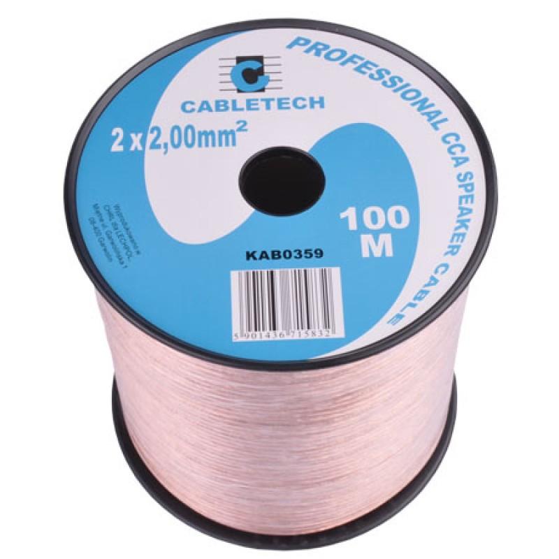 Cablu difuzor Cabletech, 2 mm, 100 m, transparent