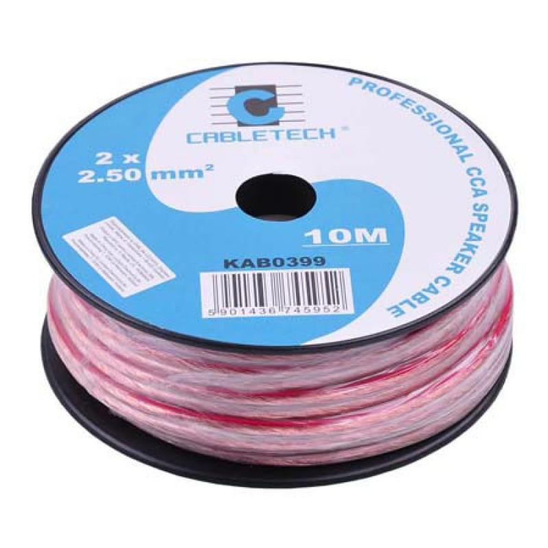 Cablu difuzor Cabletech, 2 x 2.5 mm, lungime 10 m, Rosu/Negru 2021 shopu.ro