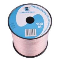 Cablu difuzor Cabletech, CCA, 6 mm, rola 100 m, transparent