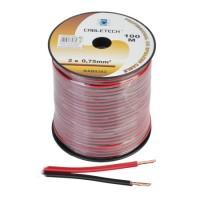 Cablu difuzor Cabletech, 0.75 mm, rola 100 m, negru/rosu