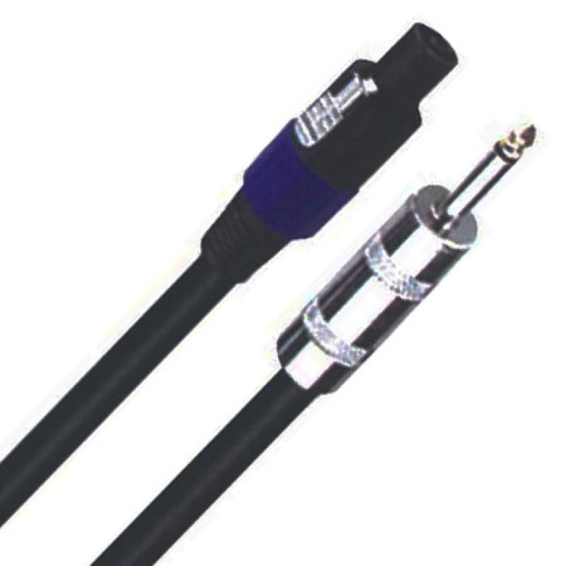 Cablu pentru difuzor Speakon - Jack 6.3 mm, lungime 10 m, Negru