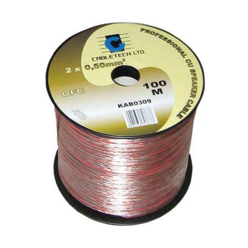 Cablu difuzor Cabletech, material OFC, 0.5 mm, rola 100 m 2021 shopu.ro