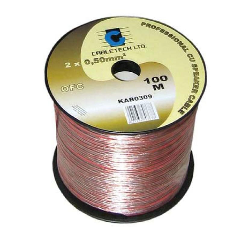 Cablu difuzor Cabletech, material OFC, 0.75 mm, rola 100 m 2021 shopu.ro