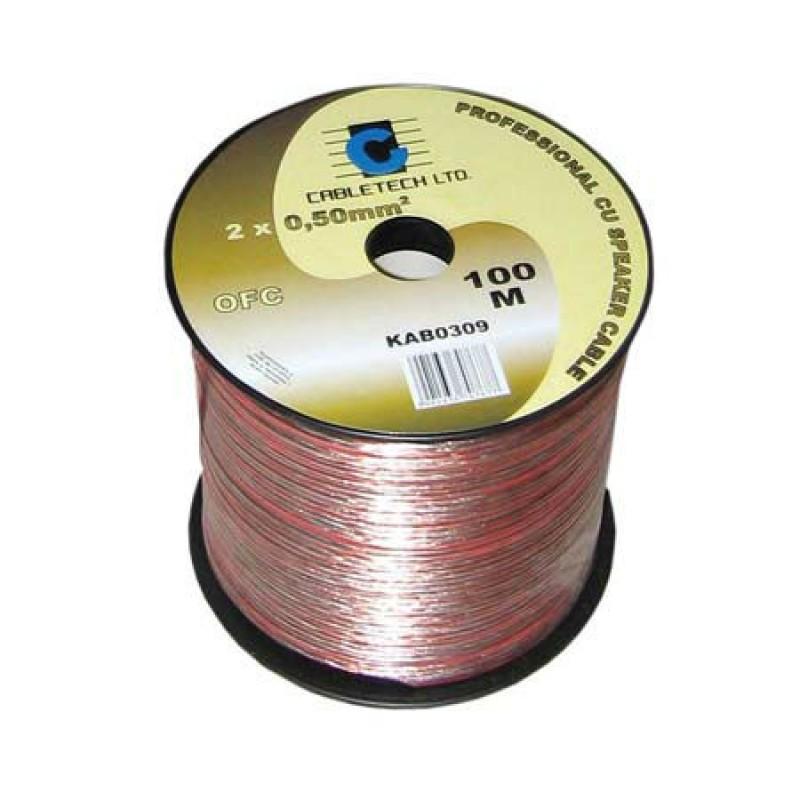 Cablu difuzor OFC Cabletech, 1 mm, rola 100 m 2021 shopu.ro