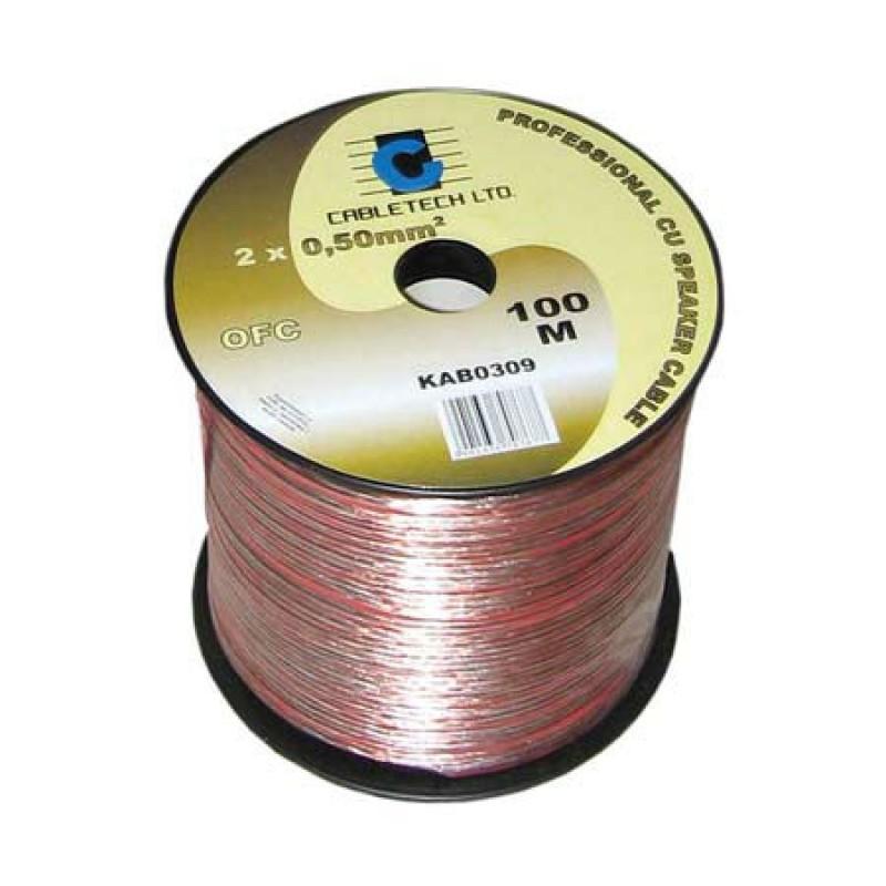 Cablu difuzor Cabletech, material OFC, 1.5 mm, rola 100 m 2021 shopu.ro