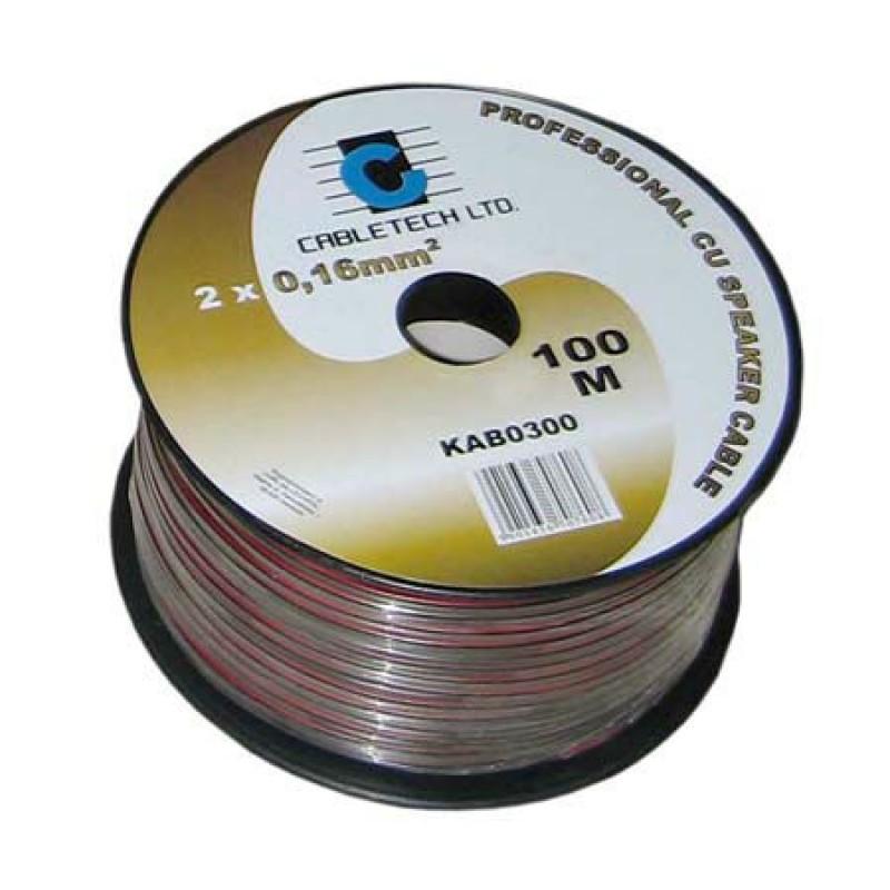 Cablu difuzor Cabletech, R/N 0.2 mm, cupru, rola 100 m 2021 shopu.ro
