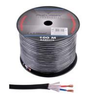 Cablu pentru difuzor Azusa, rotund, 1.5 mm, fir de bumbac, rola 100 m