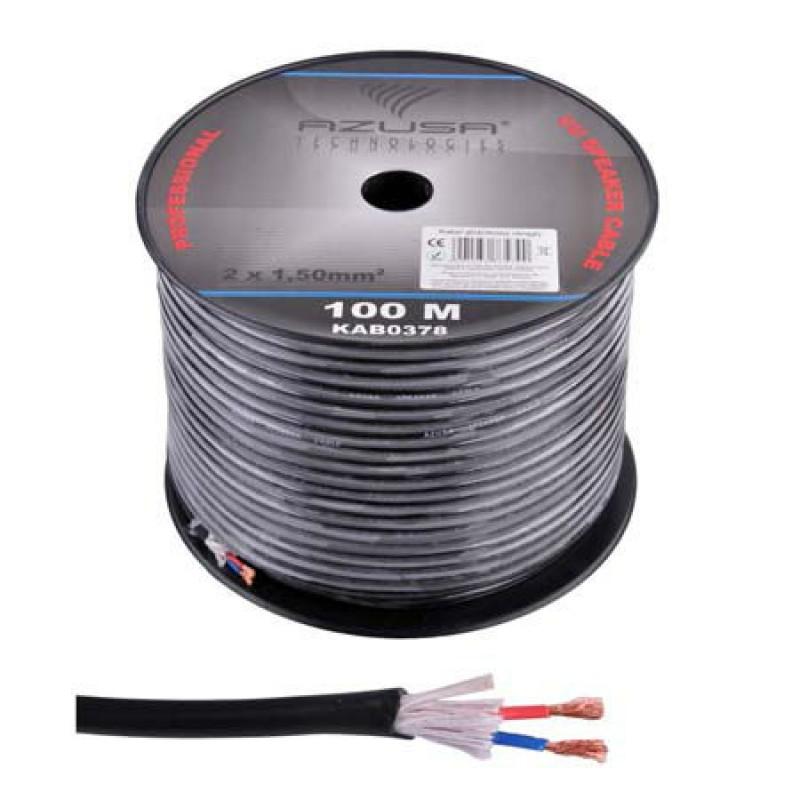 Cablu pentru difuzor Azusa, rotund, 1.5 mm, fir de bumbac, rola 100 m 2021 shopu.ro