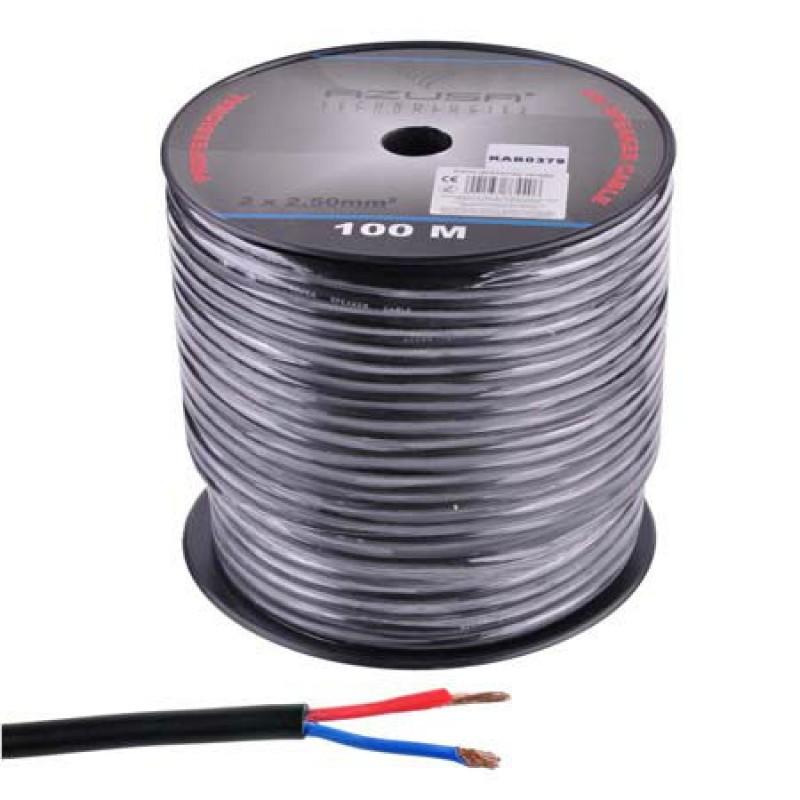 Cablu pentru difuzor Azusa, rotund, 2.5 mm, fir de bumbac, rola 100 m 2021 shopu.ro