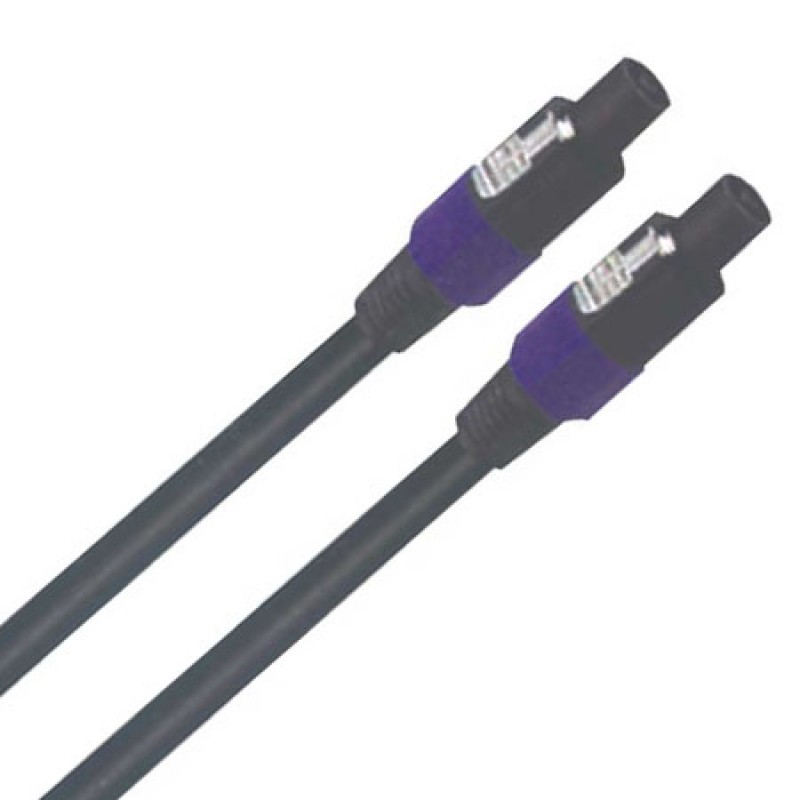 Cablu pentru difuzor 2 x Speakon, lungime 20 m, negru 2021 shopu.ro