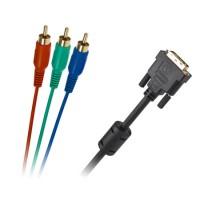 Cablu digital Cabletech DVI 24+5 - 3 x RCA, 3 m