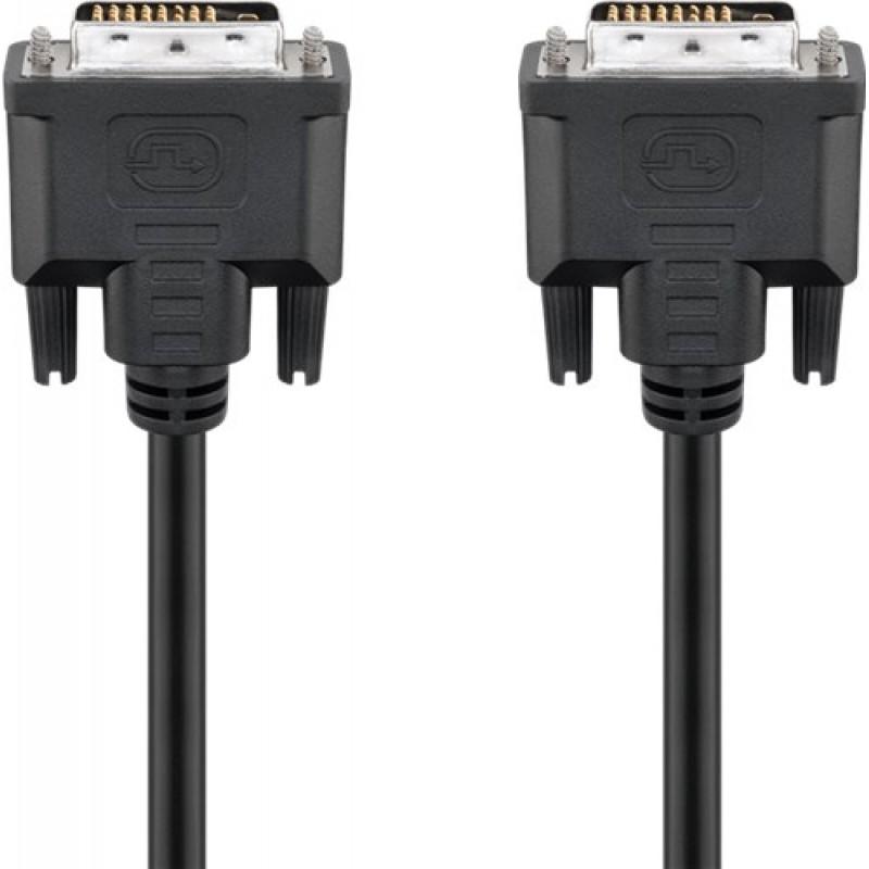 Cablu DVI tata - DVI tata Goobay, 0.5 m, 25 pini 2021 shopu.ro