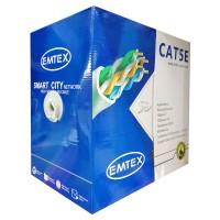 Cablu FTP CAT5E Emtex, 24AWG, 305 m, cupru, izolatie HDPE