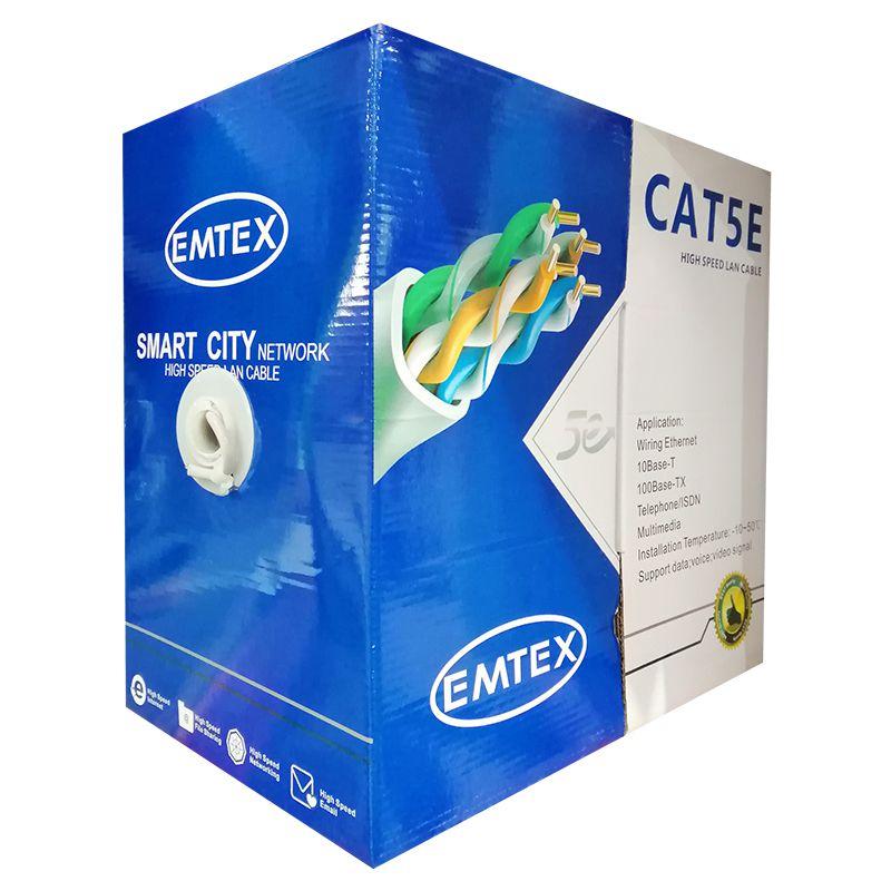 Cablu FTP CAT5E Emtex, 24AWG, 305 m, cupru, izolatie HDPE 2021 shopu.ro