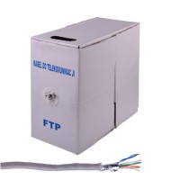 Cablu FTP Cabletech, rigid, ecranaj folie aluminiu, rola 305 m