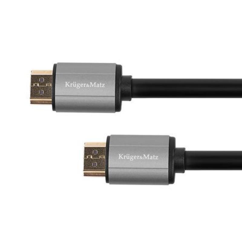 Cablu Kruger&Matz HDMI - HDMI, KM1205, 10 m, Negru