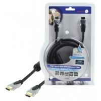 Cablu cu Ethernet High Speed HQ, HDMI tata/HDMI tata, lungime 3 m