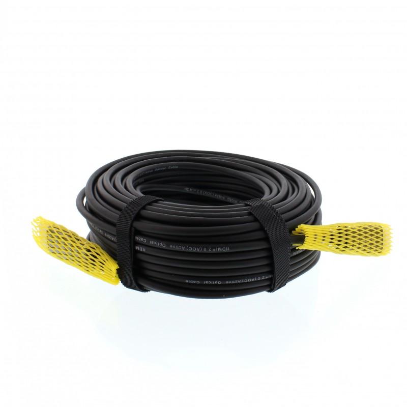 Cablu AOC HDMI tata - HDMI tata Well, 20 m, HDMI 2.0, fibra optica