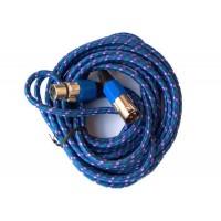 Cablu XLR mama - XLR tata, 3 m, impletitura textila, Albastru