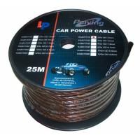 Cablu de putere din cupru 2GA, 12 x 33.62 mm, 25 m, Negru