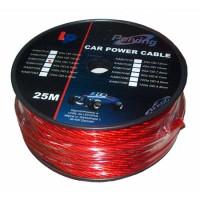 Cablu de putere din cupru 8GA, 8.31 x 6.7 mm, 25 m, Rosu
