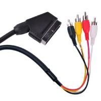 Cablu audio/video Euroscart - 4 x RCA, 1.5 m, Multicolor
