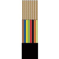 Rola cablu pentru telefon, 50 m, 8 fire, Negru