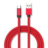Cablu telefon Ruby Edition USB - Type C, 1 m, Rosu