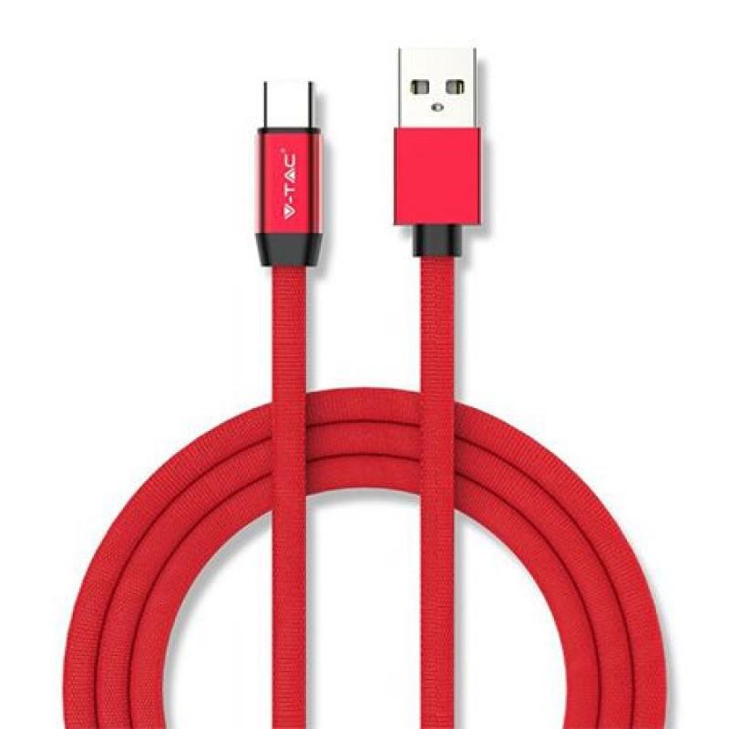 Cablu telefon Ruby Edition USB - Type C, 1 m, Rosu 2021 shopu.ro