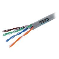 Cablu UTP Ted Electric, categoria 5, cupru, 0.5 mm, 305 m