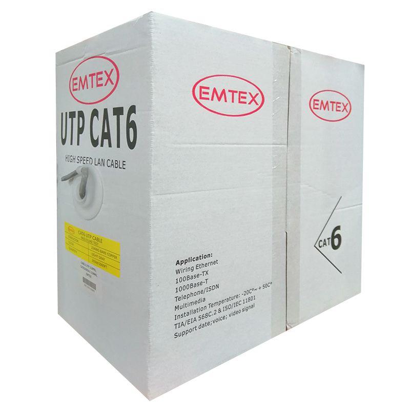 Cablu UTP CAT 6 Emtex, 305 m, cupru, izolatie HDPE
