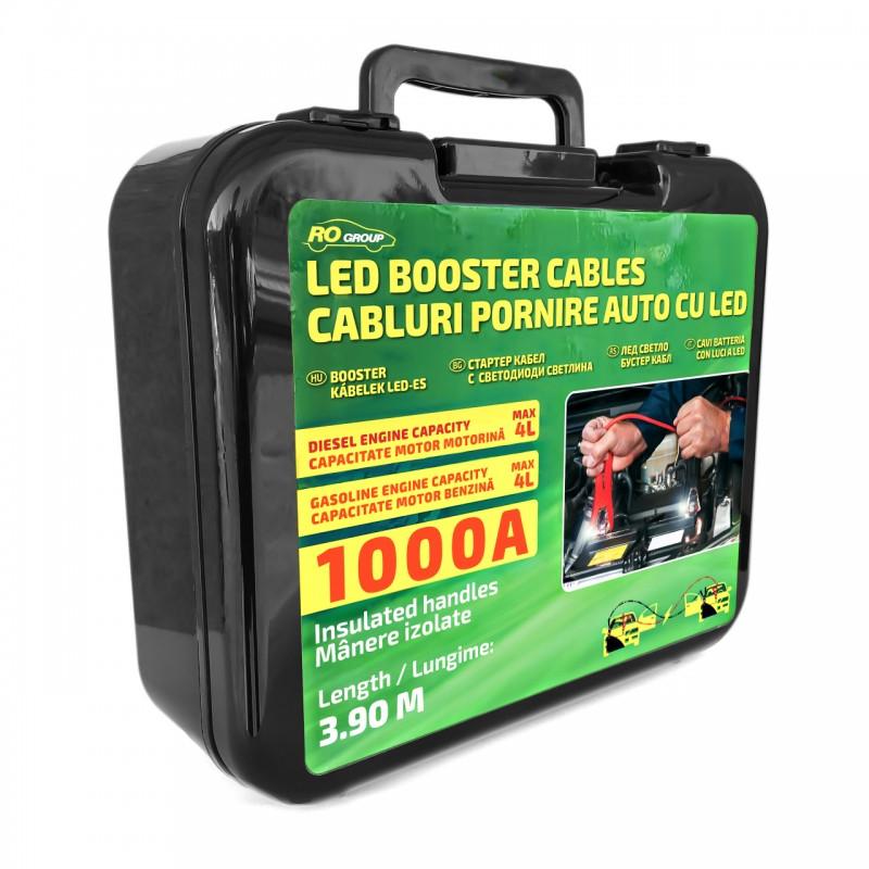 Cabluri pornire auto RoGroup, cu LED integrat, 1000A, 3.5 m 2021 shopu.ro