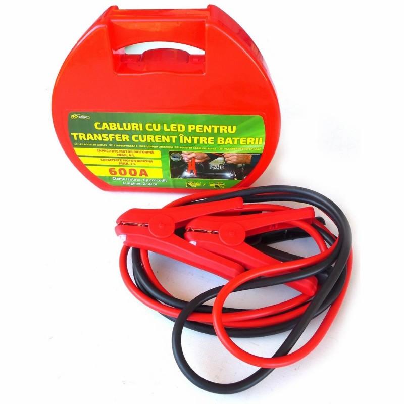 Cabluri pornire auto RoGroup, cu LED integrat, 600A, 2.1 m 2021 shopu.ro