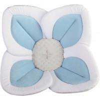 Cadita de plus si salteluta de joaca Lotus BloomingBath, alb/albastru
