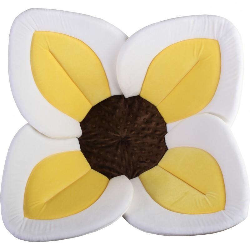 Cadita de plus si salteluta de joaca Lotus BloomingBath, galben/maro 2021 shopu.ro