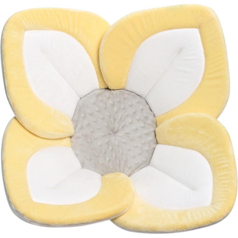 Cadita Lotus BloomingBath, 84 cm, plus, tip saltea de joaca, 0 luni+, Galben/Alb 2021 shopu.ro
