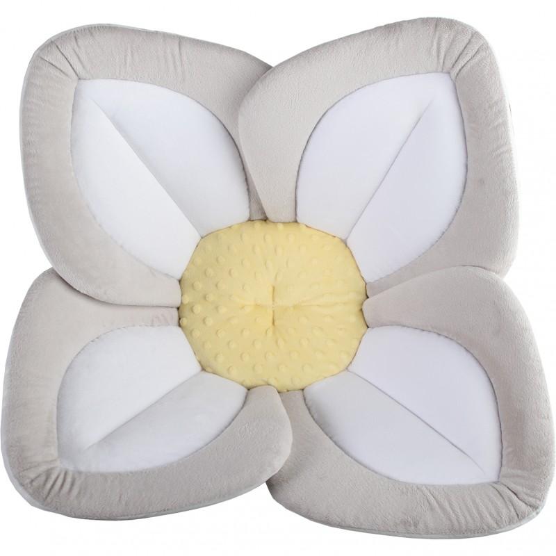 Cadita de plus si salteluta de joaca Lotus BloomingBath, alb/galben 2021 shopu.ro
