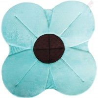 Cadita de plus si salteluta de joaca Poppy BloomingBath, 76 cm, Albastru