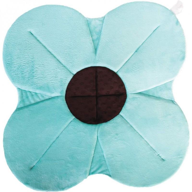 Cadita de plus si salteluta de joaca Poppy BloomingBath, 76 cm, Albastru 2021 shopu.ro