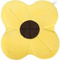 Cadita de plus si salteluta de joaca Poppy BloomingBath, 76 cm, Galben