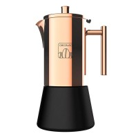 Infuzor pentru cafea Cecotec Gold Moking, 200 ml, 4 cani cafea, Auriu/Negru