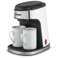 Cafetiera cu filtru Zass, 450 W, 2 cesti ceramice incluse, picioruse antialunecare