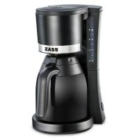 Cafetiera cu termos Zass, 800 W, capacitate 8 cesti, cana termos din sticla 1 l