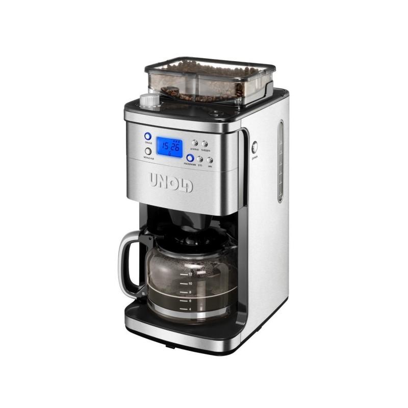 Cafetiera electrica cu rasnita Unold.1050 W, 1.5 L, ecran LCD, filtru permanent 2021 shopu.ro